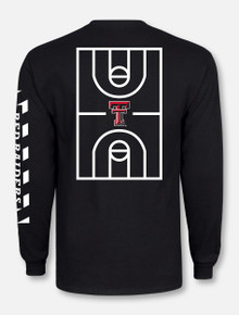 "Texas Tech Red Raiders ""Court in Session"" 2020 Basketball Black Long sleeve T-shirt"
