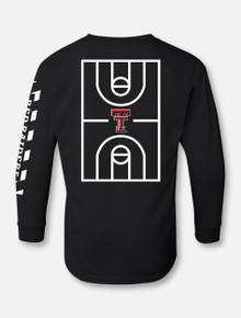 "YOUTH Texas Tech Red Raiders ""Court in Session"" 2020 Basketball Black Long sleeve T-Shirt"