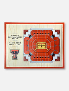 Texas Tech Red Raiders Three-Dimensional Five-Layer View of United Supermarkets Arena Wall Decor