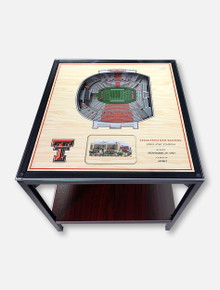 Texas Tech Red Raiders Three-Dimensional Twenty-Five-Layer View of Jones AT&T Stadium Lighted End Table