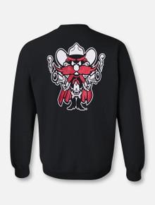 Texas Tech Red Raiders Double T Glitter Raider Red Crewneck Sweatshirt