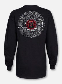 "Texas Tech Red Raiders Double T ""Basketball Record Breaker""  Black Long Sleeve Shirt"