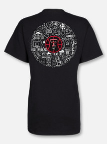 "Texas Tech Red Raiders Double T ""Basketball Record Breaker""  Black T-Shirt"
