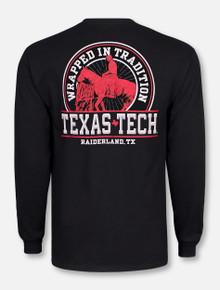 """Texas Tech Red Raiders Double T """"Will Rogers Wrapped In Traditions"""" Black Long Sleeve T-shirt"""