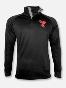 """Under Armour Texas Tech Red Raiders """"Throwback"""" Doubleknit Poly Quarter Snap Pullover"""