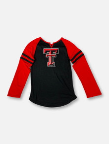 "Arena Texas Tech Red Raiders Double T  ""Andy Rhinestone"" YOUTH Long Sleeve T-Shirt"