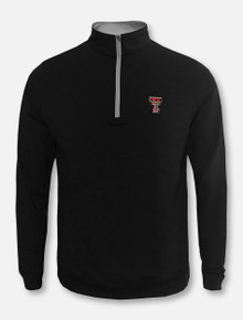 """Peter Millar Texas Tech Red Raiders Double T  """"Perth"""" Solid Quarter Zip Pullover"""