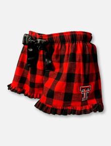 "Texas Tech Red Raiders Double T  ""Buff"" Plaid Flannel Short"