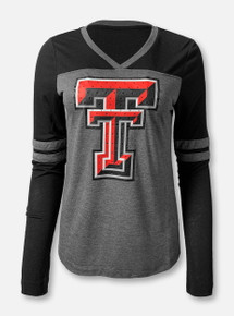 "Arena Texas Tech Red Raiders Double T ""Surely Rhinestone"" Long Sleeve T-Shirt"