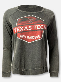 "Arena Texas Tech Red Raiders Double T ""Hel-Loh"" Black Raglan Long Sleeve T-Shirt"