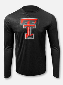 "Arena Texas Tech Red Raiders  Double T ""Vertigo"" Black Long Sleeve T-Shirt"