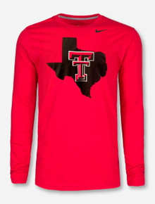 Nike Texas Tech Red Raiders Pride Logo Red Long-Sleeve T-Shirt