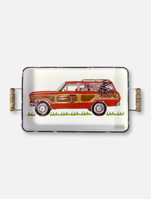 "Glory Haus Texas Tech Red Raiders Double T ""Wagoneer"" Enamel Tray"