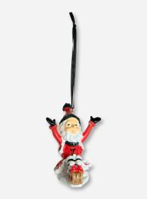 Texas Tech Sterling Elf on a Sleigh Ornament
