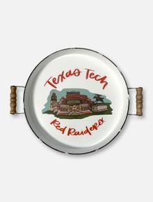 "Glory Haus Texas Tech Red Raiders Double T ""Stadium Landmark"" Enamel Tray"