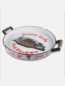 "Glory Haus Texas Tech Red Raiders Double T ""Stadium Landmark"" Enamel Tray"