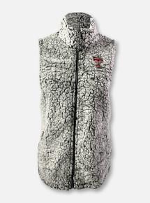 Texas Tech Red Raiders Double T Full-Zip Sherpa Vest In Grey