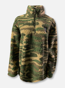 Texas Tech Red Raiders Double T Camouflage Sherpa Quarter-Zip Pullover