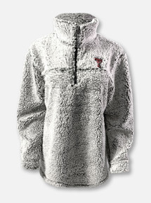 Texas Tech Red Raiders Double T  Quarter-Zip Sherpa Pullover In Grey