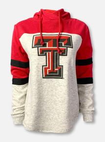 "Arena Texas Tech Red Raiders Double T ""Taylor Fleece""  Color-Block Hoodie In  Heather Grey"