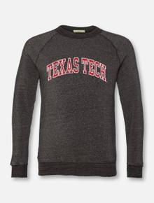 "Texas Tech Red Raiders Classic ""Vintage Seal"" Arch Crew Sweatshirt In Black"