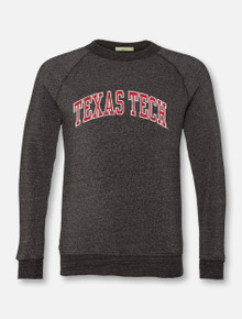 "Texas Tech Red Raiders Classic ""Vintage Seal"" Arch Crew Sweatshirt In Black"