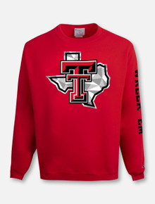 "Champion Texas Tech Red Raiders ""Shattered Pride"" Crewneck Sweatshirt In Red"