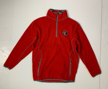 Antigua Lonestar Pride YOUTH Fleece Quarter-Zip Pullover In Red