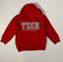 Texas Tech Red Raiders Glitter Chevron YOUTH Hoodie In Red