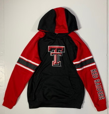 Arena Texas Tech Red Raiders Double T YOUTH Colorblocked Hoodie In Red