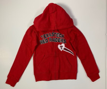 Arena Texas Tech Red Raiders Double T GIRLS Rhinestone Heart Full-Zip Hoodie In Red