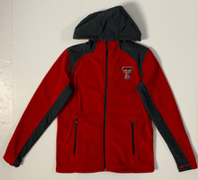 Arena Texas Tech Red Raiders Double T  YOUTH Fleece Full-Zip Hoodie In Red