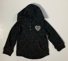 Arena Texas Tech Red Raiders Double T Heart TODDLER GIRLS Hoodie In Charcoal