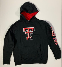 Arena Texas Tech Red Raiders Double T YOUTH Pullover Hoodie In Black