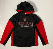 Arena Texas Tech Red Raiders Double T Block Text YOUTH Pullover Hoodie In Black