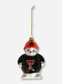 Texas Tech Sterling Snowman with Double T Ornament