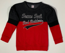 Arena Texas Tech Red Raiders GIRLS Colorblocked Sweatshirt In Red