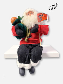 Texas Tech Red Raiders Double T Musical Santa Figurine