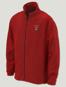 "Texas Tech Columbia ""Flanker"" Fleece Red Jacket"