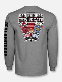 """Texas Tech vs. Kentucky """"Game Collectors"""" Grey Long Sleeve T-Shirt (PREORDER SHIPS 12/7)"""
