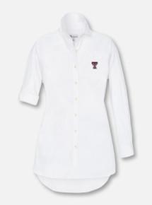 Peter Millar Texas Tech Red Raiders Double T Women's Long Sleeve Button Down Dress  Shirt