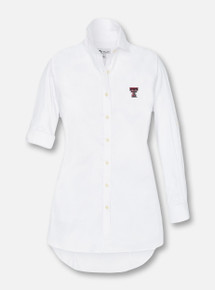 Peter Millar Texas Tech Red Raiders Double T Women's Long Sleeve Button Down Dress  Shirt