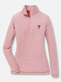 Peter Millar Texas Tech Red Raiders Double T Striped Quarter-Zip Stretch Pullover
