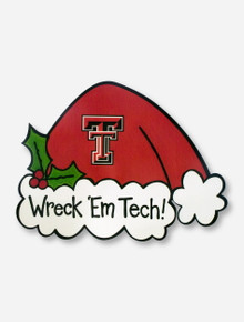 Wreck 'Em Tech Santa Hat Tree Topper