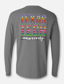 "Texas Tech Red Raiders Stacked ""Baja Blanket"" Long Sleeve T-Shirt"