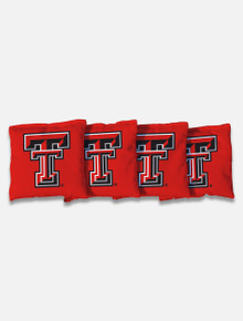 Texas Tech Set of Four All-Weather Proof Cornhole Bags in Carrying Case