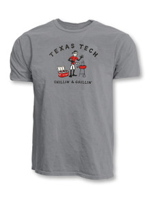 "Texas Tech Red Raiders Life is Good  ""Chillin' & Grillin'"" Grey T-Shirt"