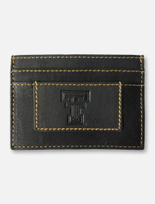 Texas Tech Red Raiders Double T Nappa Leather Card Holder