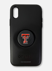 Texas Tech Red Raiders Double T Otterbox With Swappable Pop-Socket Phone Case For iPhone X/XS