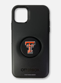 Texas Tech Red Raiders Double T Otterbox With Swappable Pop-Socket Phone Case For iPhone